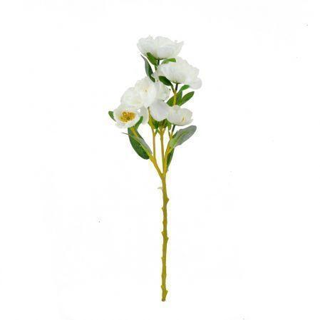 401/5109C Ранункулюс ветка белый d9; h56см (5 голов)