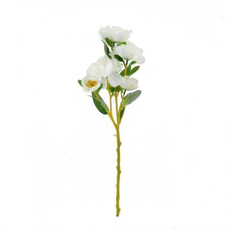 401/5109C Ранункулюс ветка белый h56см (5 голов)