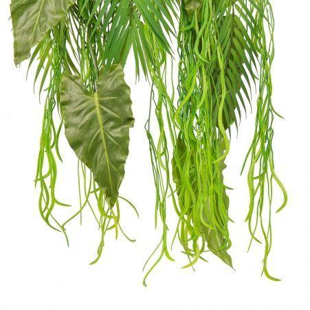 ВМ12(з.) Вставка модуль Тропический микс с ампельными растениями(силикон) h80см(свеса)