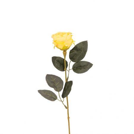 401/0048-3В Роза h56см (желтая)