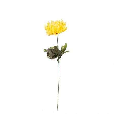 401/0180-3В Хризантема h52см (желтая)