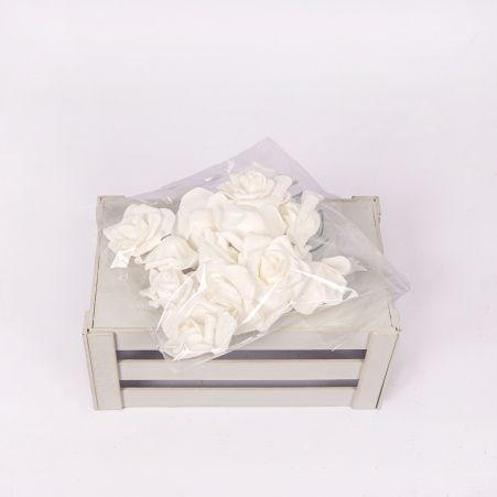 7146/0409-1 Голова розы с блестами и тканью d4-6см (10шт/уп
