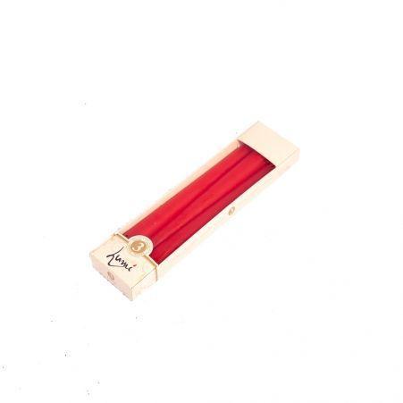 Свеча Античная LUMI h245мм (красная) (3шт/уп)