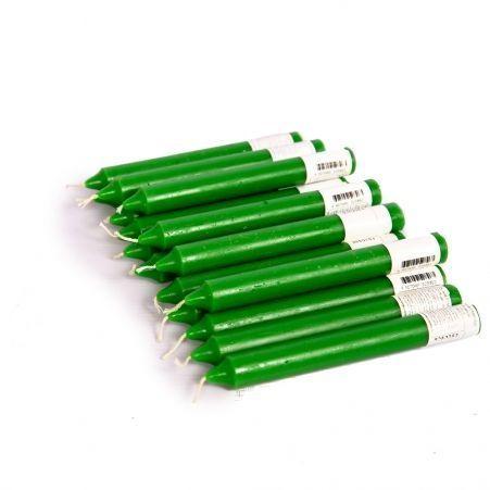 Свеча столовая  20*178см (зеленая)(16шт/уп)