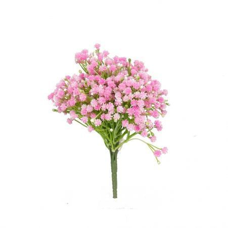 7142/0483-3 Гипсофила (силикон) букет*7ч (фиол/бел/розов)