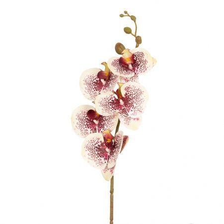 401/0151-11B Орхидея h86см(латекс) кремово-бордовая
