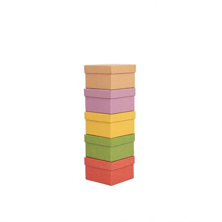 ККТ11*11*7 Коробка квадратная Крафт тонированная
