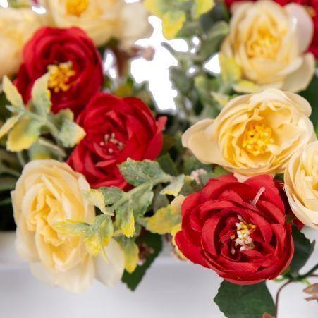 """Ц422-4(Aкция) Франц. балкон .""""Роза-камелия"""" ампел. (крем-"""