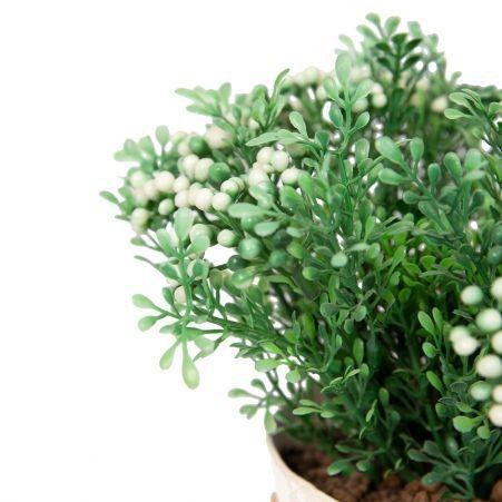 ЦД20/193-3(Sale) Ягодный куст в  декор. кашпо (белый)