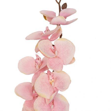 401/0218-5В Орхидея ветка сатиновая h92см (светло-розовая)