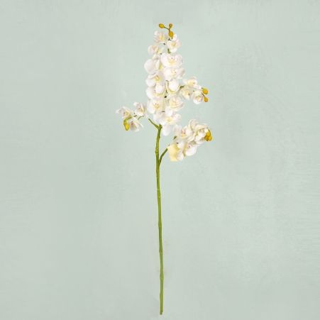401/0230-23A Орхидея искусственная h 70см белая