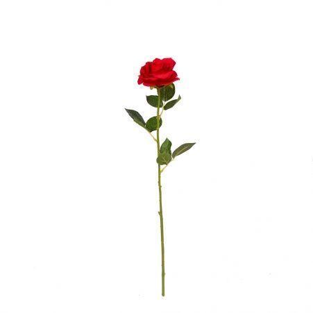 7141/9149-1/2 Роза сатиновая (красная)*1 h62см