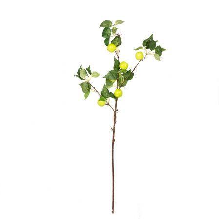 403/0088Р Ветка яблони искусственная, зеленая,h см