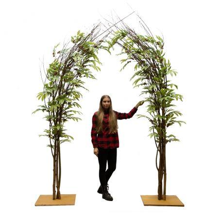 ДА02(з.) Декоративная арка с ягодами 210см h260см