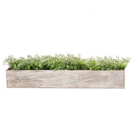 811/013-2 Ящик деревянный (серый) 76*10*h12см