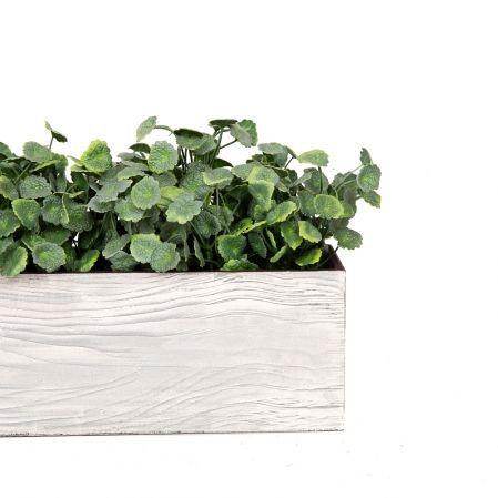 811/013-7 Ящик деревянный (светло серый) 76*10*h12см