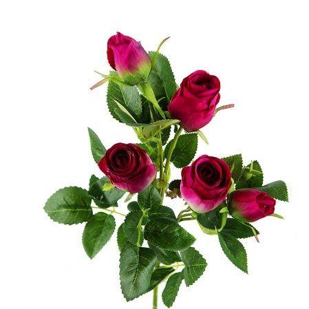 401/0173-17L Роза ветка d4; h63см (бургунд.) *5б