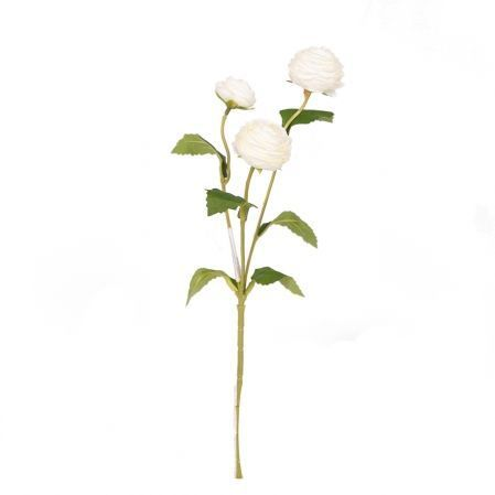 7141/9191-6/23 Ранункулюс мини*3 h42см (белый)