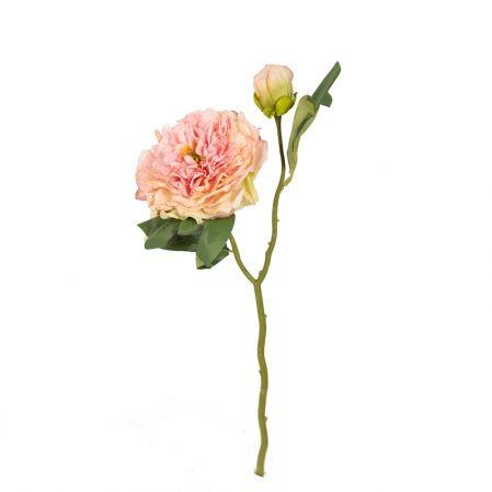 7141/9191-7/5 Пион открытый Ретро 1гол.1бут. d14; h50см (светло-розовый)
