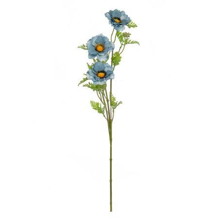 7141/9149-4/10 Анемон 3 гол. h75см (голубой)