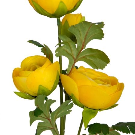 7141/9149-7/3 Ранункулюс 3гол 1 бутонd9; h66см (желтый)