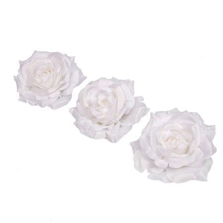 406/0241-23В Голова розы сатиновая 10см (12шт/уп)(белая)