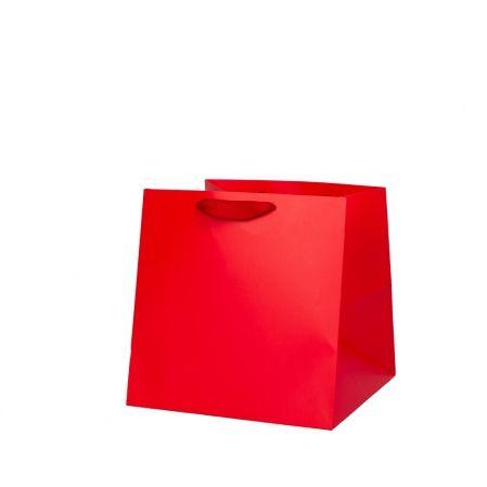 002РоЛПШд Пакет люкс однотонный плотный шир.дно(25*25*25)(12шт/уп)(Р