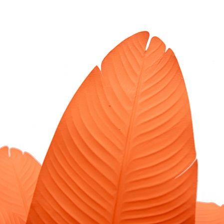 150/К/360-1(з.) Банановая пальма h150см (оранжевая) в интерьерном кашпо