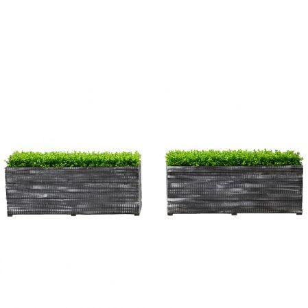 811/04-2/3(з.) Ящик деревянный (черно-белый) 120*40*40