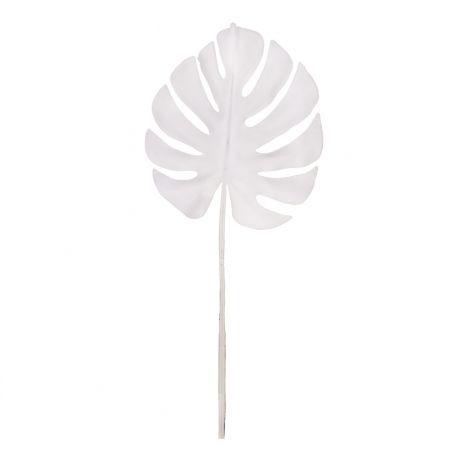 7143/0030-7/23(Promo) Лист Монстеры искусственный, малый, белый, h 75 см (32+43)