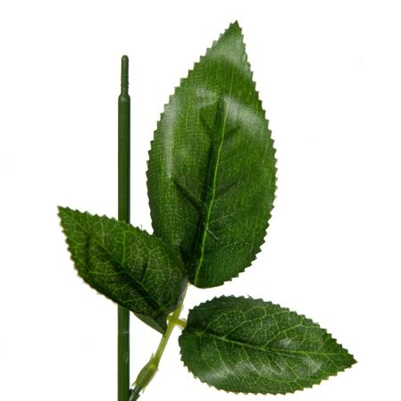 405/2141 Нога для розы с листьями h54см (RS)