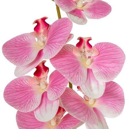 7141/А2785-05/1 Орхидея h108см (латекс)(бело-розов. с прожилками)