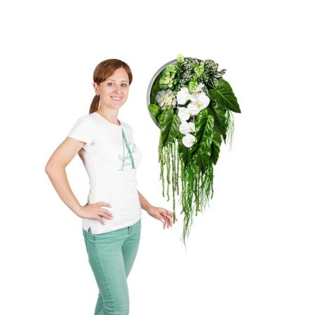 Фитопанно 04-2/1(з.) с орхидеей d35см