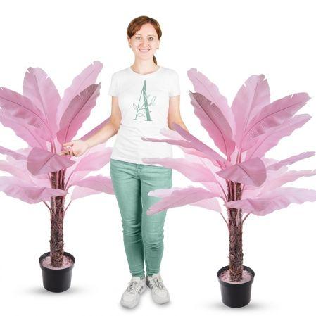 П120/356-2(з.) Банановая пальма розовая (силикон) h120см