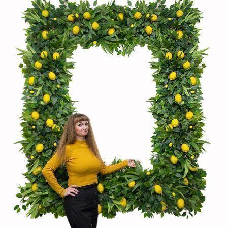 Фитостена 003/2 Ветка декоративная с зеленью и лимонами, 1кв.м