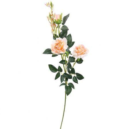 7141/А2783-01/13 Роза велюр персик. h98см (2гол+1бут)
