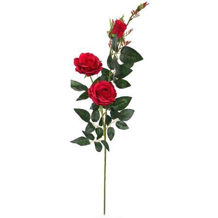 7141/А2783-01/2 Роза велюр красн. h98см (2гол+1бут)