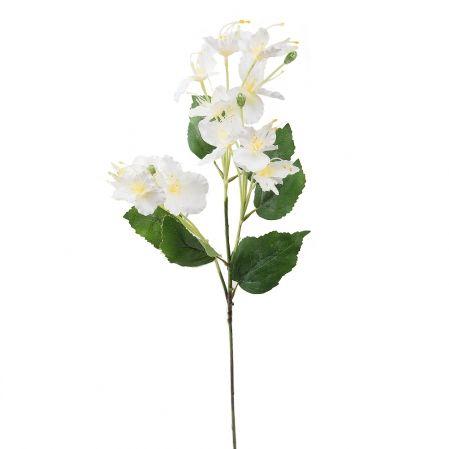 7141/А2790-02/23 Цветок декоративный белый h72см(222)