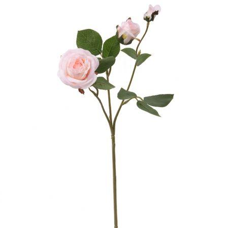 7141/А2790-09/1 Роза кустовая розовая h42см(1г+2бут)(871)