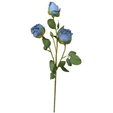 7141/А2790-05/10 Роза Ретро голуб. h52см(2г+1бут)(651)