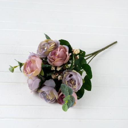 7142/0313-03 Роза камелия прованс*5ч (крем-крас, лиловый)