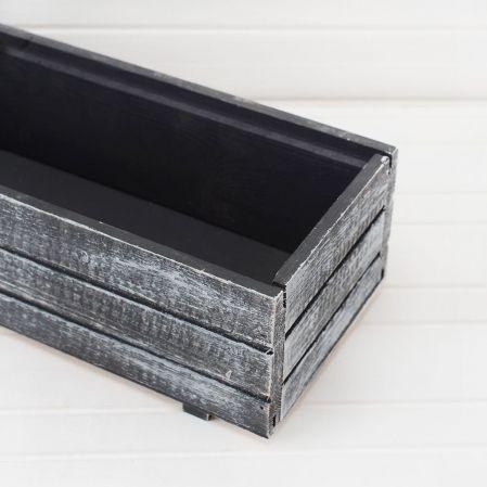 811/04-2/1 Ящик деревянный (черно-белый)) 35*14*9