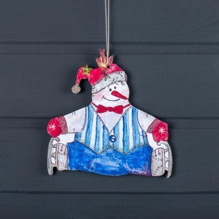 """807/006-5(Sale) Декор """"Снеговик на подвесе"""" (на коньках"""