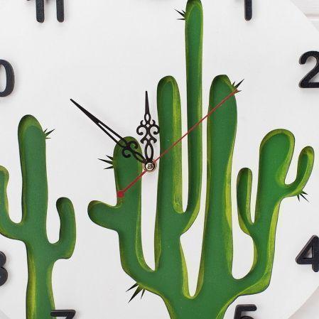 """801/020(Sale) Часы """"Кактусы"""" d40см"""