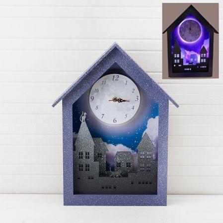 """801/015(Sale) Часы с подсветкой """"Луна"""" 28*43 см"""