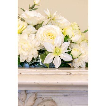 К64 Композиция цветочная на овальном основании 31*9*h3